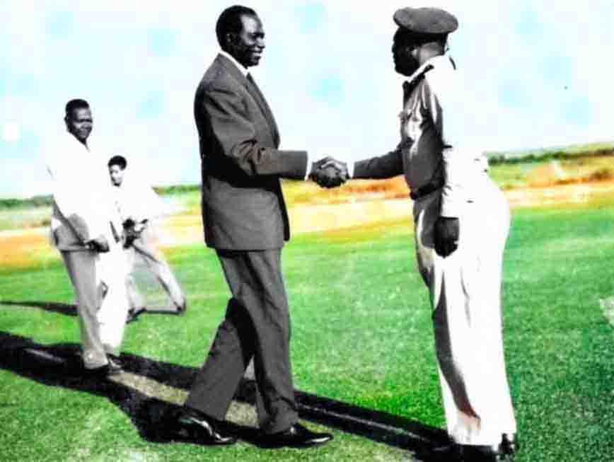 Modibo Keita et le Général Soumaré