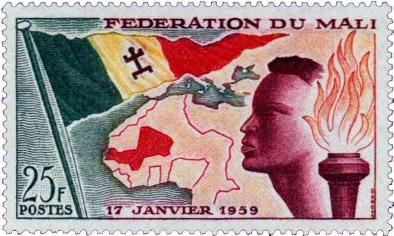 Timbre fédération du Mali