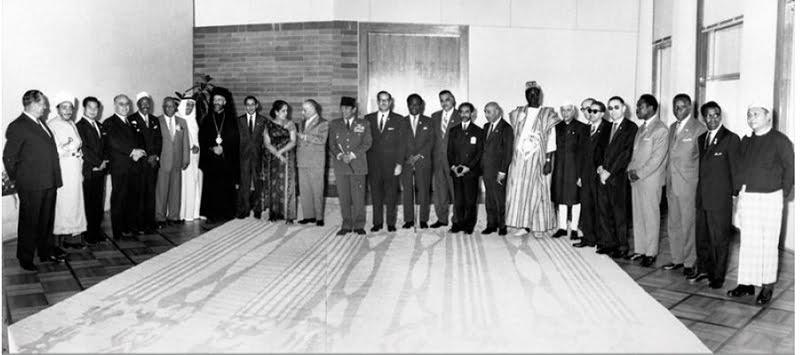 Les leaders non-alignés à la conférence  de Belgrade