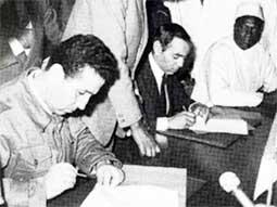 Signature du cessez-le-feu entre l'Algérie et le Maroc