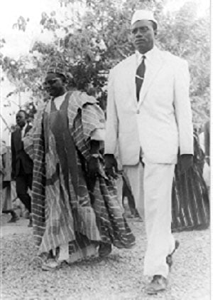 Modibo Keita et Hamani Diori